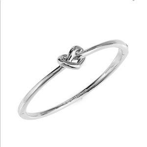 Kate Spade Love Me Knot Silver Bangle Bracelet